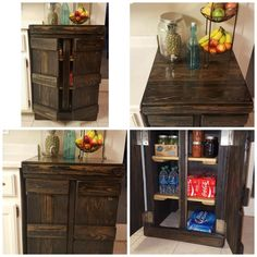 Ebony Storage Cabinet - Kitchen or Character Piece Kitchen Cabinet Storage, Liquor Cabinet, Kitchen Cabinets, Handmade Cabinets, Custom Woodworking, Rustic, Character, Inspiration, Furniture