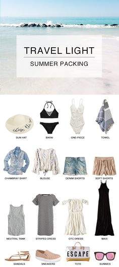 Travel Light: Summer Travel and Preparing for a Beach Getaway! Tips and tricks f., Beach Outfits, Travel Light: Summer Travel and Preparing for a Beach Getaway! Tips and tricks for how to prep and get that summer glow, what to pack and more. Summer Beach, Summer Vibes, Summer Glow, Travel Wardrobe, Capsule Wardrobe, Beach Wardrobe, Outdoor Pics, Outfit Strand, Travel Capsule