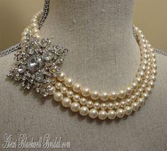 Wedding Jewelry Set  Diamond Elegance Brooch by EyeCandyAntiques, $89.00