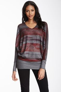 HauteLook | Go Couture Sweaters: V-Neck Dolman Sleeve Tunic Sweater
