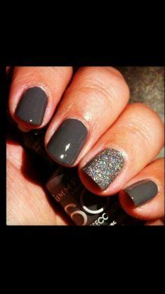 Glittery grey