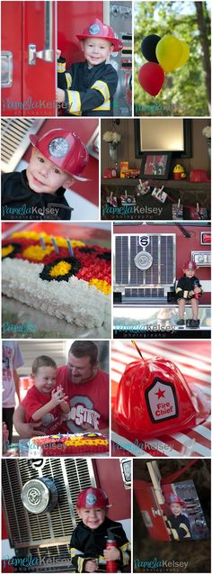 Firefighter themed birthday party by Pamela Kelsey Photography