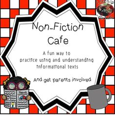 Viewing 1 - 20 of 2445 results for non fiction cafe Informational Texts, Nonfiction, Holiday Wishes, Teaching Resources, Literacy, Parenting, English, Activities, Education