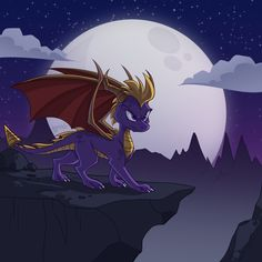 Night of the Dragon by Kaleidoskopic on DeviantArt Spyro The Dragon, Dragon Art, Spyro Trilogy, Spyro And Cynder, Dragon Dreaming, Video Game Art, Video Games, Cool Dragons, Lord