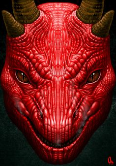 ✯ Red Dragon Face .:☆:. By *AlMaNeGrA ✯