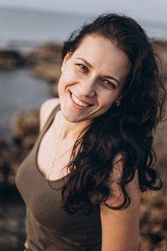 beautiful smiled woman in summer