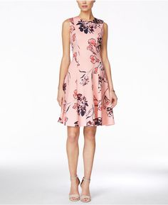 "Ivanka Trump Ivanka Trump Sleeveless Floral-Print Fit & Flare Dress--**EXPLORE an Amazing Collection of  ""Theme Matching Wedding Invitation Card Suite Sets"" by Visiting... http://WeddingInvitationSets.com"