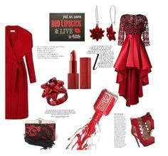 """""""Color of the Day 12/15: Crimson"""" by abbyandelle ❤ liked on Polyvore featuring Hobbs, GUESS, Essie, Jason Wu, Kim Rogers, Anja, Whiteley, NARS Cosmetics, Christian Pellizzari and christmasparty"""