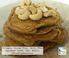 Gluten & Dairy Free Pancakes from Mummy Tries ( Low Sugar Recipes, Dairy Free Recipes, Paleo Recipes, Real Food Recipes, Yummy Food, Dairy Free Pancakes, Paleo Pancakes, Paleo Treats, Food Allergies