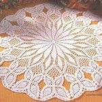 Free Crochet Doily Pattern  With Butterflies Circular