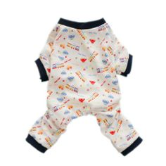 Cute Cars Dog Clothes for Dog Pajamas Soft Comfy Dog Jumpsuit Dog Shirt, Large - http://www.thepuppy.org/cute-cars-dog-clothes-for-dog-pajamas-soft-comfy-dog-jumpsuit-dog-shirt-large/
