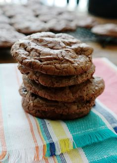 Dark Chocolate Truffle Cookies-the same recipe they use at the Dahlia Bakery in Seattle this is a very dark, rich chocolate cookie for the true chocoholic!