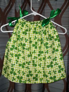St Patricks Day Baby Dress by CABCREATIONSHOPPE on Etsy, $13.00