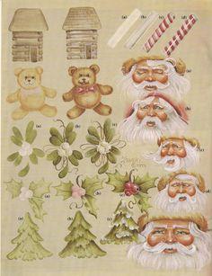 Jean paints the best Santas! Santa & Me Vol 2   An Heirloom Book by Jean Zawicki.