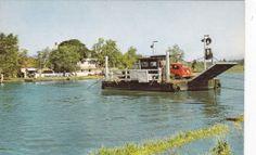 Reedham Ferry , Norfolk Broads , UK , 50-60s