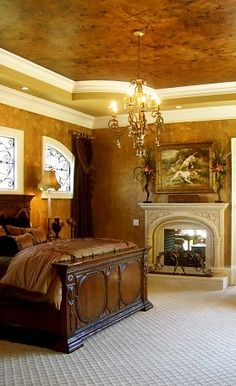 love the wall and ceiling color....