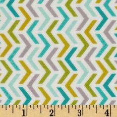 Michael Miller Flannels Les Amies Ripples Aqua - Discount Designer Fabric - Fabric.com