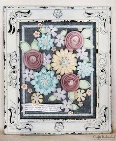 Framed Antique Floral Wall Hanging