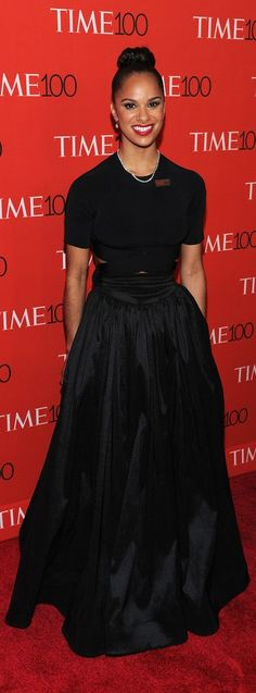 Misty Copeland's skirt and top at the Time 100 gala.