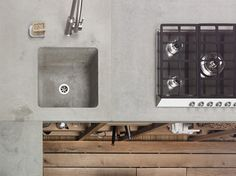 concrete counter top and sink