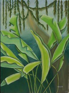 """""""Selva con lianas"""" 100 x 81 cm óleo"""