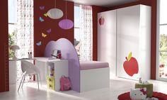 Habitación infantil temática manzanas dibujos animados HK2