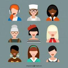 Set de avatars