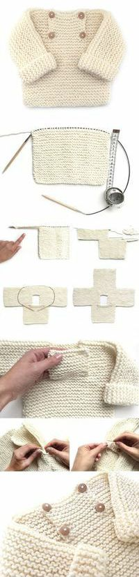 Child Knitting Patterns Step-by-step tutorial to knit a lovely child knit sweater. Baby Knitting Patterns Supply : Tutorial paso a paso para tejer un adorable jersey de bebé de punto bobo. Baby Knitting Patterns, Knitting For Kids, Baby Patterns, Free Knitting, Knitting Projects, Crochet Projects, Crochet Patterns, Sweater Patterns, Knitting Tutorials