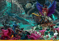 Roboute Guilliman,Primarchs,Warhammer 40000,warhammer40000, warhammer40k, warhammer 40k, ваха, сорокотысячник,фэндомы,Magnus The Red,Ultramarines,Ультрамарины,Space Marine,Adeptus Astartes,Imperium,Империум,Black Legion,Undivided,Chaos (Wh 40000),Thousand Sons,Red Corsairs,inquisitor