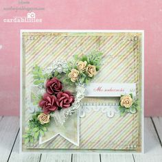 Simple card with Prima - Scrapbook.com