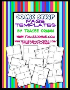 Use these page templates for creative assignments for your students. They can be used to assign comic/cartoon strips about the unit you are studying, a biography for an author or historical figure, or a creative book report.
