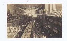 FREMONT OH REAL PHOTO POSTCARD 1913 FLOOD INTERIOR WOOLWORTH 5c&10c STORE