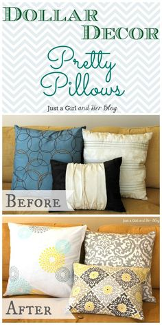 Now i kno what to do wit the ugly throw pillows i hav now ! No need to buy new ones !