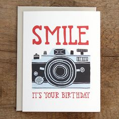 Smile Birthday Camera Illustrated Card... love this card.  so pretty you could frame it!!