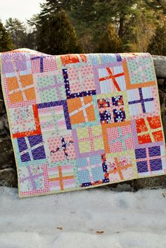 Handmade Patchwork Quilt by sweetjane on Etsy