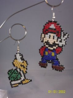 Mario Brothers earrings by LetrishaCreations on Etsy, $20.00