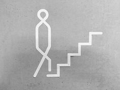 Graphics we like / Icons / Stairs / Men / This Way / iconographic