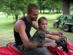 "DADDY AND JAIMI IN BROWN COUNTY DOING, ""BOY STUFF"". LOL"
