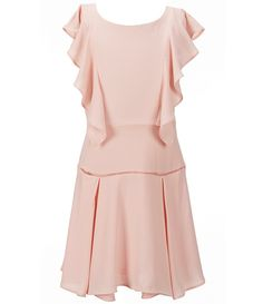 54cff624ced GB Girls Big Girls 7-16 Cascade Ruffle Lattice-Inset Drop-Waist Dress