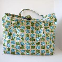grocery tote bag with french seams