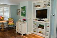 In-Law Suite/ Guest Apartment - Eclectic - Bedroom - Detroit - by Riley Art and Interiors Tv Built In, Built In Shelves, Built Ins, Bedroom Sitting Room, Master Bedroom, Motherinlaw Suite, In Law House, Garage Guest House, Mother In Law