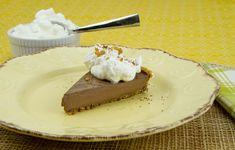 Chocolate Pudding Pie with Macadamia Crust / @DJ Foodie / DJFoodie.com