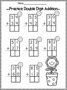 double digit addition with no regrouping  st grade activities  double digit adding  subtracting without regrouping spring printables o