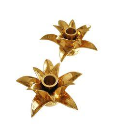 brass palm candlesticks $26