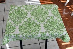 TV tray turned craft table. - Mod Podge Rocks--def not this look but i do have a table to do this to