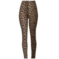 Wild Animal Leopard Panther Pattern Slim-Fit Fashionable Women's... ($21) ❤ liked on Polyvore featuring pants, leggings, leopard print pants, animal print pants, white leggings, print leggings and slim fitted pants
