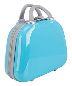 Blue Hardshell 10'' Cosmetic Case by Travelers Club Luggage #zulily #zulilyfinds