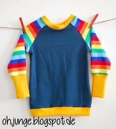 Oh, Junge!: Regenbogen Raglan
