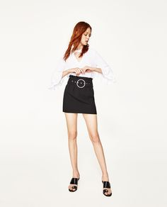 ZARA - WOMAN - BLOUSE WITH FRILLED SLEEVE
