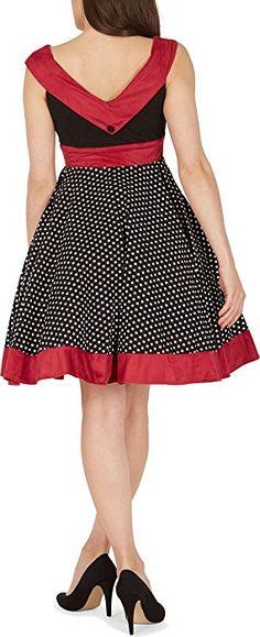 BlackButterfly 'Sylvia' Vintage Polka Dot Pin-up Dress (Black, US 4)